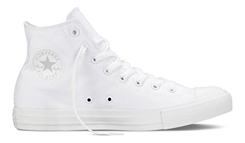Converse Sneaker All Star Hi Canvas, Sneakers Unisex Adulto, Bianco (White), 44 EU