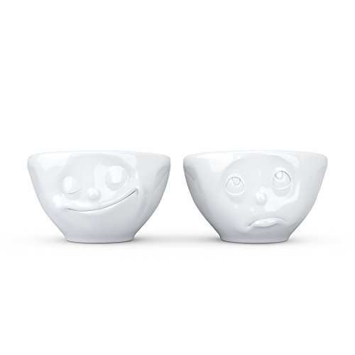 Fiftyeight T012401 Lot de 2 coupelles Motif visages heureux et triste