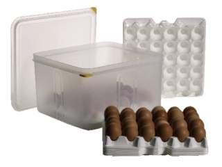 Eier-Box inkl. 8 Tabletts für die Lagerung von je 30 Eiern GN 2/3 - 10 tlg. Sparset