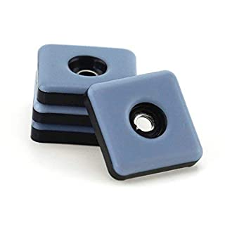 40 Stück Teflon-Möbelgleiter 25 mm x 25 mm – 5 mm dick inkl. Schraube 3,5 mm x 20 mm/PTFE-Beschichtung/Teflongleiter / Möbelgleiter/Stuhlgleiter