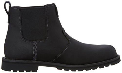 Timberland Men's Grantly Chelsea Boot, Black Connection/Suede, 11 M US Black Connection/Suede
