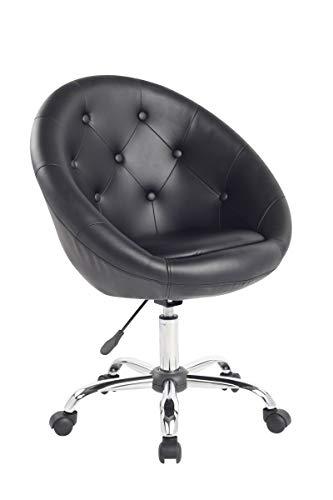 Duhome Elegant Lifestyle Schicker Rollhocker/Arbeitshocker/Bürostuhl in Schwarz - Hocker Drehstuhl Typ 509B
