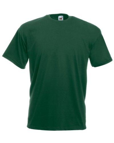 Fruit of the Loom T-Shirt S-XXXL in verschiedenen Farben XXL,flaschengrün XXL,Flaschengrün (Farbe T-shirt Grün)