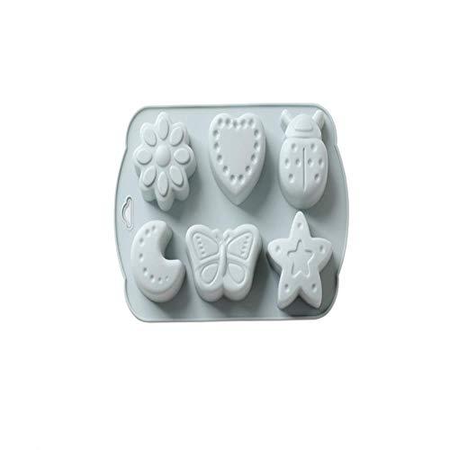 lyward 6 Sogar Mond Bug Silikon Backform Schokolade Handgemachte Seifenform Blau, 2Er Pack