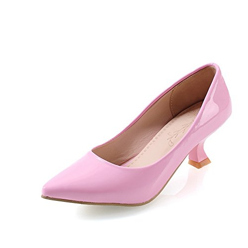 A&N ,  Damen Durchgängies Plateau Sandalen mit Keilabsatz , rosa - rose - Größe: 35.5 (Womens Snow Boots Plaid)