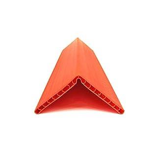 Sandax 1016.0200 Kantenschutzwinkel (Wabenstruktur) 190x190x19mm, L= 800mm, Orange