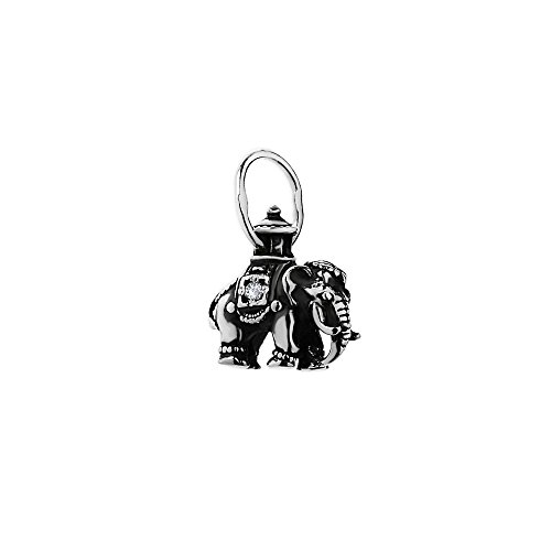 NKlaus Novaservice 925plata de ley Cadenas colgante Ortho Dox elefante con circonitas 6294