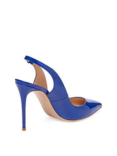 Chiuso Edefs Pompe Donna Slingback Blu Tallone Centimetri Toe 10 rrEFHxqBw