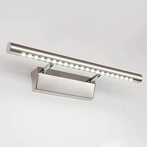 Bad-wandleuchte (Dailyart 5W LED Spiegelleuchte Spiegellampe Spiegellicht mit Schalter aus Edelstahl 180° einstellbar LED Bad Beleuchtung Schranklampe Wandleuchte IP44 Kaltweiß 6000~7000K [Energieklasse A+])