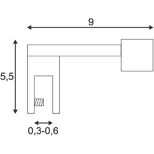 Slv dp 118 - Luminaria espejo r7s 60w cromo/cromada