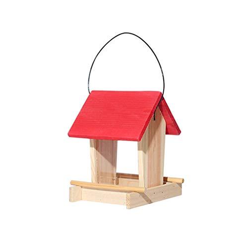 JXXDDQ Mangeoire pour Oiseaux Jardin Suspendu Suspendu extérieur avec Dispositif d'alimentation pour Champs de Pluie