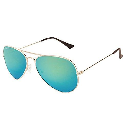 Elegante Aviator Men Sunglasses(AVTGLDGRNMER_59_Green)