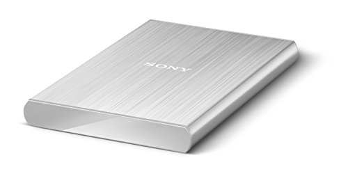 Sony HD-SL2 Ultra-Slim Lightweight 2TB External Hard Drive with Backup Manager (Silver)