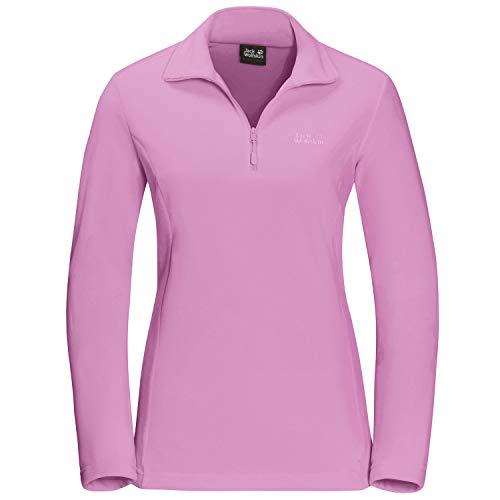 Jack Wolfskin Damen Gecko Pullover, pink Tulip, M Performance Microfleece-pullover