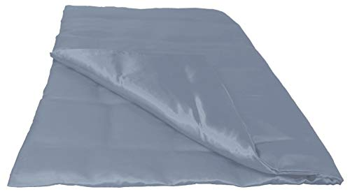 Seiden-satin-bettwäsche (beties Glanz Satin Bettbezug 135x200 cm Hausmittel gegen Gesichtsfalten 100% Polyester (wählen Sie Ihren Kissenbezug + Spannbetttuch extra dazu) Farbe Silber grau)