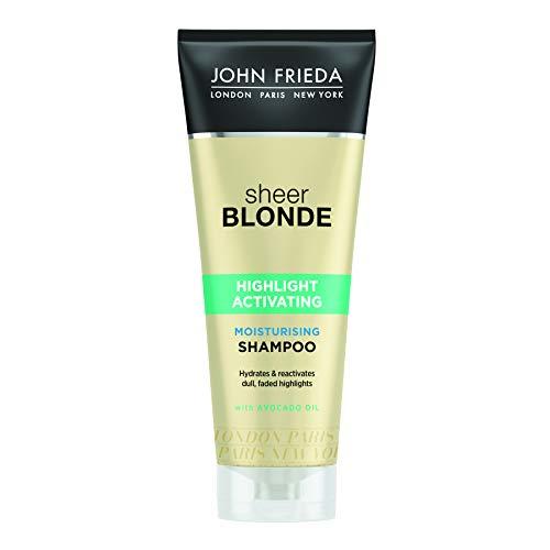 John Frieda Sheer Blonde Shampooing Nutrition Hydratant pour Cheveux Blonds Foncés 250 ml