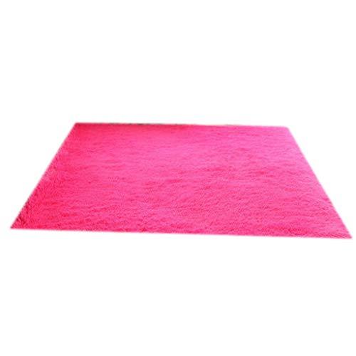 18d207da8c5b ZQG Tapis Modern Plus Tapis épais confortable confortable en fil épais rose  rouge (Couleur :