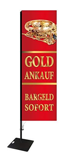 Beachflag Goldankauf -ca. 275 cm hoch- SEF516