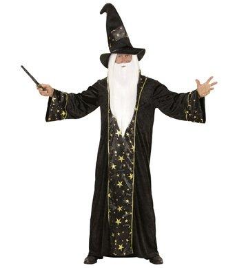 WIDMANN wdm15223–Kostüm Zauberer Fantasy, schwarz, Large