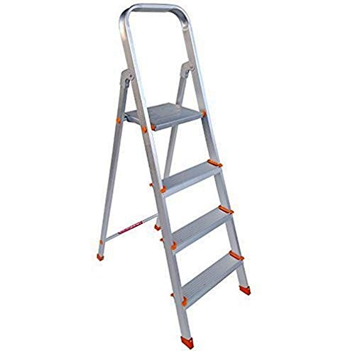 Paras Corporation 4 Step Foldable Aluminium Ladder for Home Use