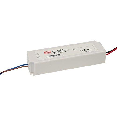 24V LED Trafo 100W Transformator, Netzteil 100 Watt 24 Volt DC 4,2A - IP67 Meanwell®