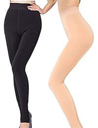 Frauen Winter Thermische Warme Dicke Fleece Hohe Taille Hose Hosen Dünne Leggings