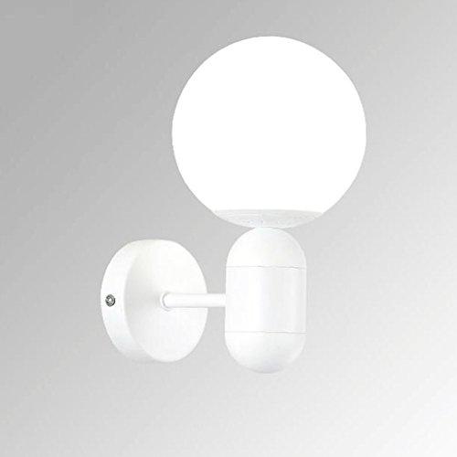 KYDJ Simplicité Designer Personnalité Macaron Creative Living room Bedroom Corridor d'étude allée de chevet Lampe Murale à LED Lampe Murale frais petit macaron E27 (Couleur : Blanc )