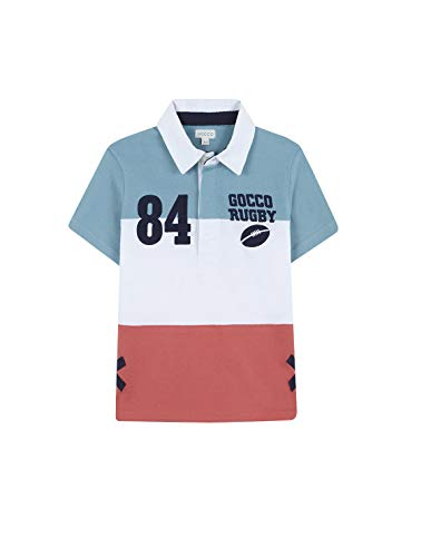 Gocco Jungen Polo Rugby Poloshirt Türkis (Turquesa Suave Zw) 128 (Herstellergröße: 7-8)