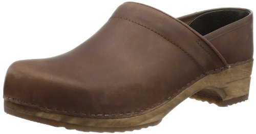 Sanita Damen Julie closed Clogs, Braun (Antique Brown 78), 39 EU
