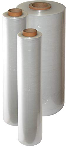 4 Rollen transparente Stretchfolie   Palettenfolie in 20 my Qualität   Verpackungsfolie 270 m x 500 mm   Wickelfolie für einen optimalen Produktschutz bei Versand und Umzug