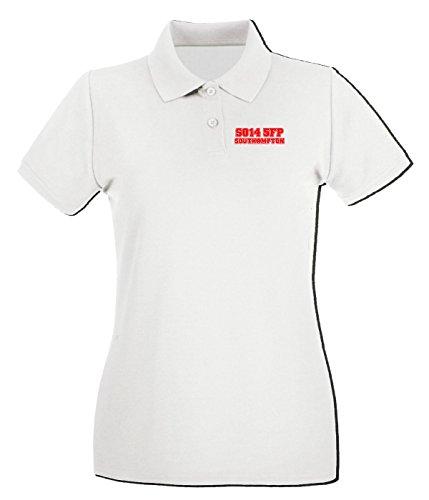 T-Shirtshock - Polo pour femme WC1074 southampton-postcode-tshirt design Blanc