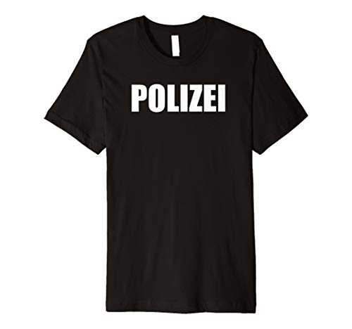 Polizei T-Shirt Herren Damen Kinder Polizei-Kostüm Karneval (Kleines Mädchen Polizei Kostüm)