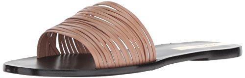 KAANAS Damen GUANABARA Multi Strap Flat Slide Leather Flache Sandale, Nude, 38 EU Leather Multi-strap