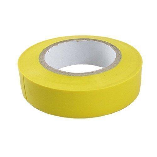 sourcingmap® 17mm Breite PVC Selbstklebend Spleißung Isolierung Band Rolle Gelb
