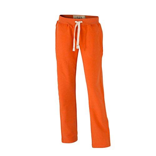 JAMES & NICHOLSON - pantalon jogging loisirs sports - look usé vintage - JN944 - Femme orange foncé