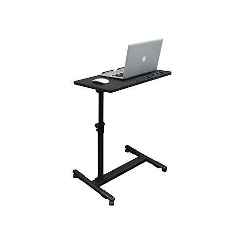AJKCTebụl Kọmputa Na-Edozimetalldrehbare Laptop-Tisch-Aufzug-Tabelle Movable Bedside Tableajkc