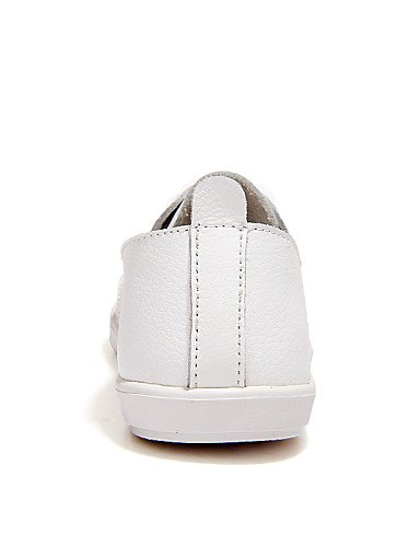 ZQ gyht Scarpe Donna-Mocassini-Casual-Comoda-Piatto-Di pelle-Nero / Bianco , white-us9.5-10 / eu41 / uk7.5-8 / cn42 , white-us9.5-10 / eu41 / uk7.5-8 / cn42 black-us4-4.5 / eu34 / uk2-2.5 / cn33