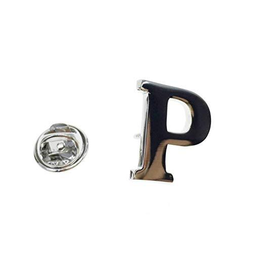 CCJIAC AZ Buchstaben Anstecknadel Alphabet Anstecknadel Abzeichen Männer Schmuck Brosche Anstecknadeln Für Frauen Oder Männer (Mann Ohne Abzeichen)