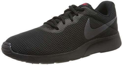 Nike Herren Tanjun Laufschuhe, Schwarz (Black/Dark Grey-Red orbit/015), 42.5 EU - Schuhe Jordan Männer