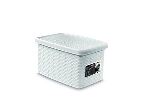 Stefanplast elegance scatola s chiusa, polipropilene, bianco, 19x29x16 cm
