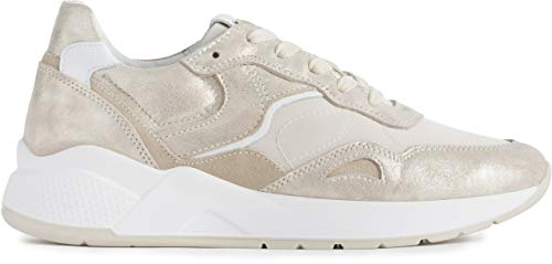Sneakers nerogiardini p907732-446 907732 scarpe donna in pelle beige 35
