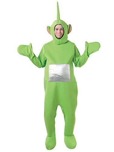 Teletubby-Kostüm - Offiziell Lizenzierte Teletubbies-Verkleidung Für Damen & Herren - Tinky-Winky, Po, Dipy, Laa-Laa (Rot, Grün, Lila, Gelb) - Einheitsgröße, Grün (Teletubbies Po Kostüm)