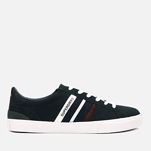 Superdry Herren Vintage Court Trainer Sneaker, Mehrfarbig (Highland Green/Navy/Port Y2f), 43 EU -