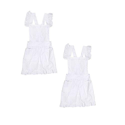 LOVIVER 2pcs Viktorianischen Pinafore Maid Bib Schürze Kostümspiel Theater - Viktorianischen Kostüm Kleider Für Verkauf