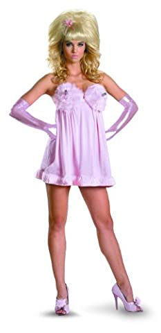 Disguise Costumes Austin Powers Fembot Sassy Deluxe Costume, Pink, Large/12-14