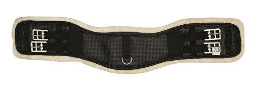 Reitsport Amesbichler HorseGuard Kurzgurt Neopren mit Kunstfell unterlegt, schwarz 75 cm