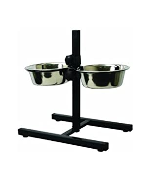 3QT Stainless Steel Double Diner Food Feeding Pet Dog Bowls Stand Brand New by FUNKY BUYS