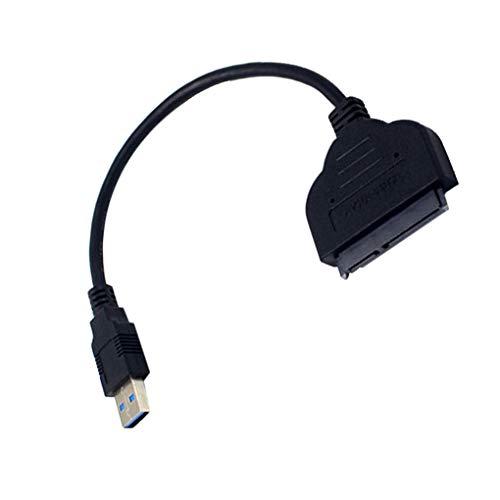yanana SATA zu USB 3.0-Festplatte-Adapter-Kabel w/UASP Konverter für SSD/HDD-Festplatte-Adapter-Kabel schwarz -