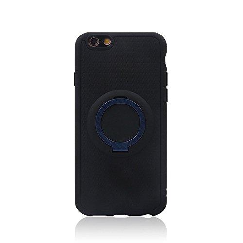 Phone case & Hülle Für iPhone 6 & 6s, TPU + PC Schutzmaßnahmen zurück Fall mit Ring Halter ( Color : Red ) Blue