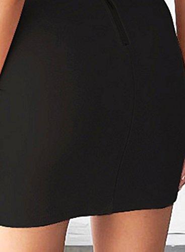 ACHICGIRL Women's off Shoulder Bodycon Irregular Dress Black